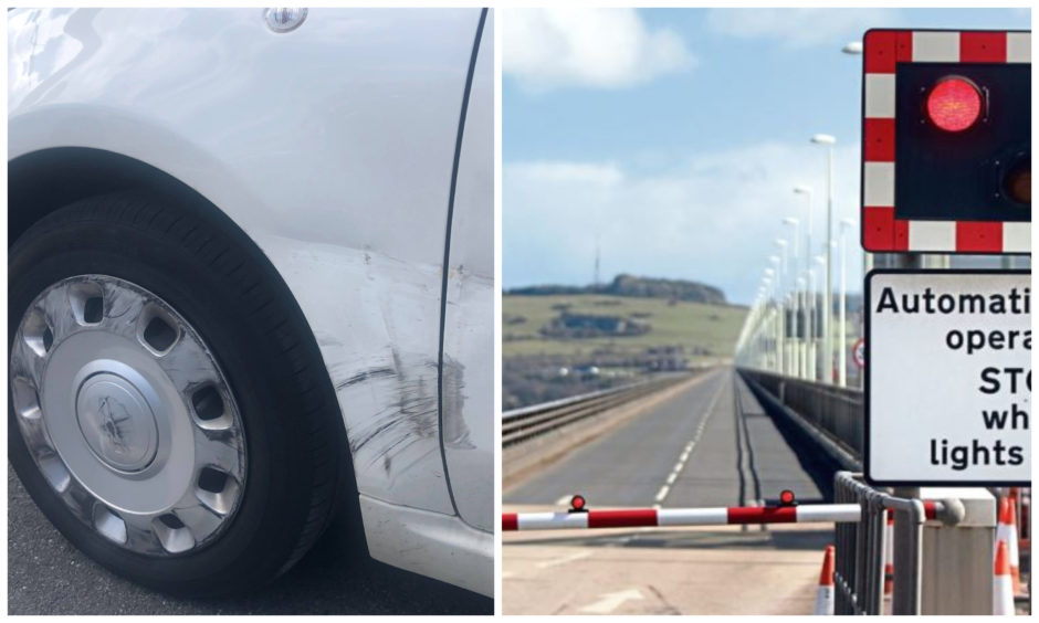 The collision took place on the Tay Road Bridge.