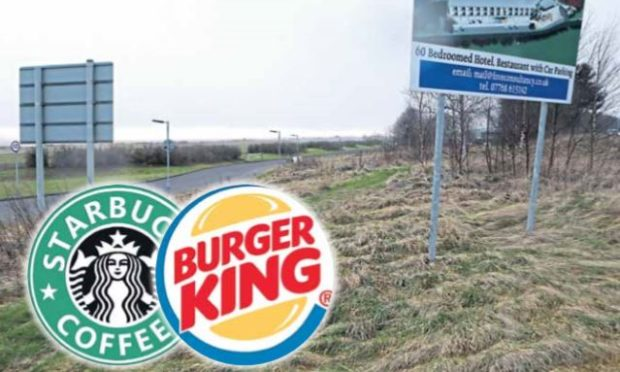 The site of the proposed Burger King and Starbucks.