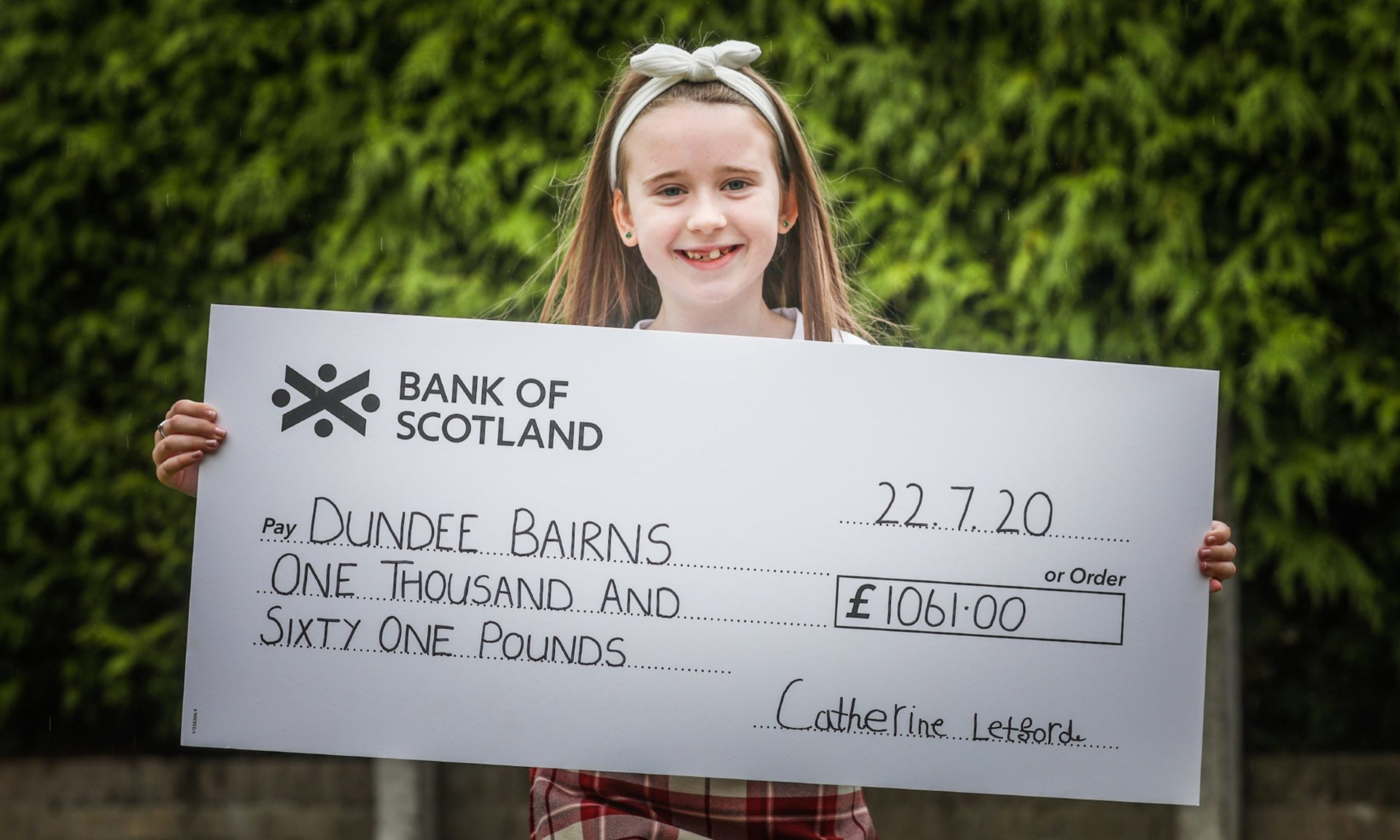 Catherine also fundraised earlier this year for Dundee Bairns.