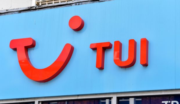 Branding on the TUI store in Wood Green, London (stock image).