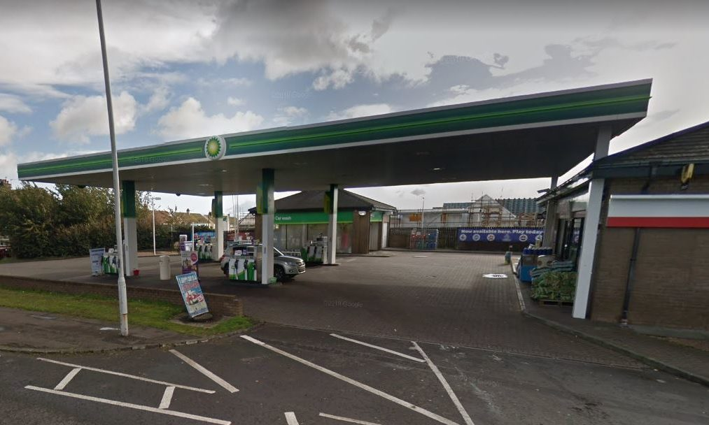 The BP garage on Windygates Road, where the alleged robbery took place.