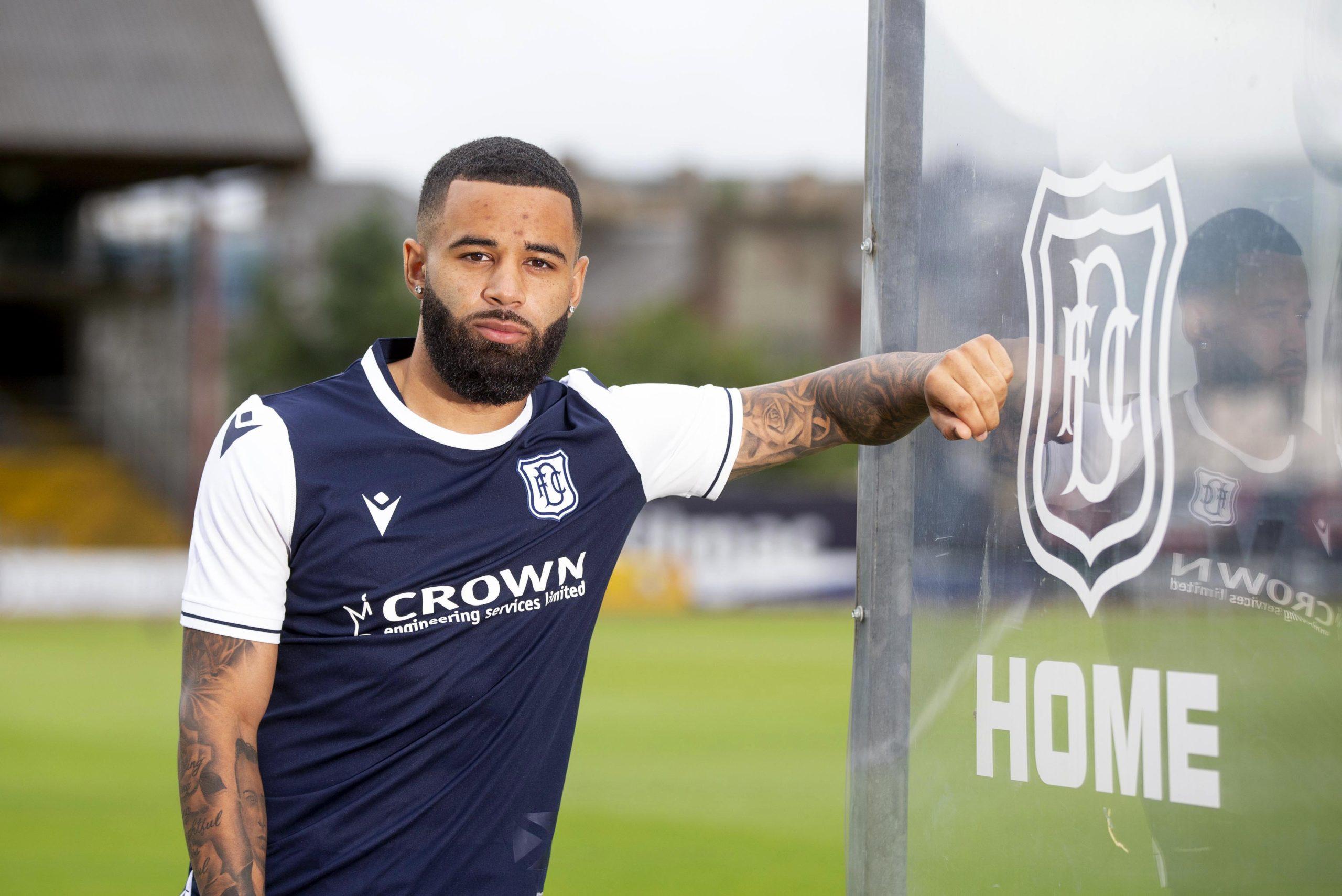 New Dundee striker Alex Jakubiak. Credit: David Young