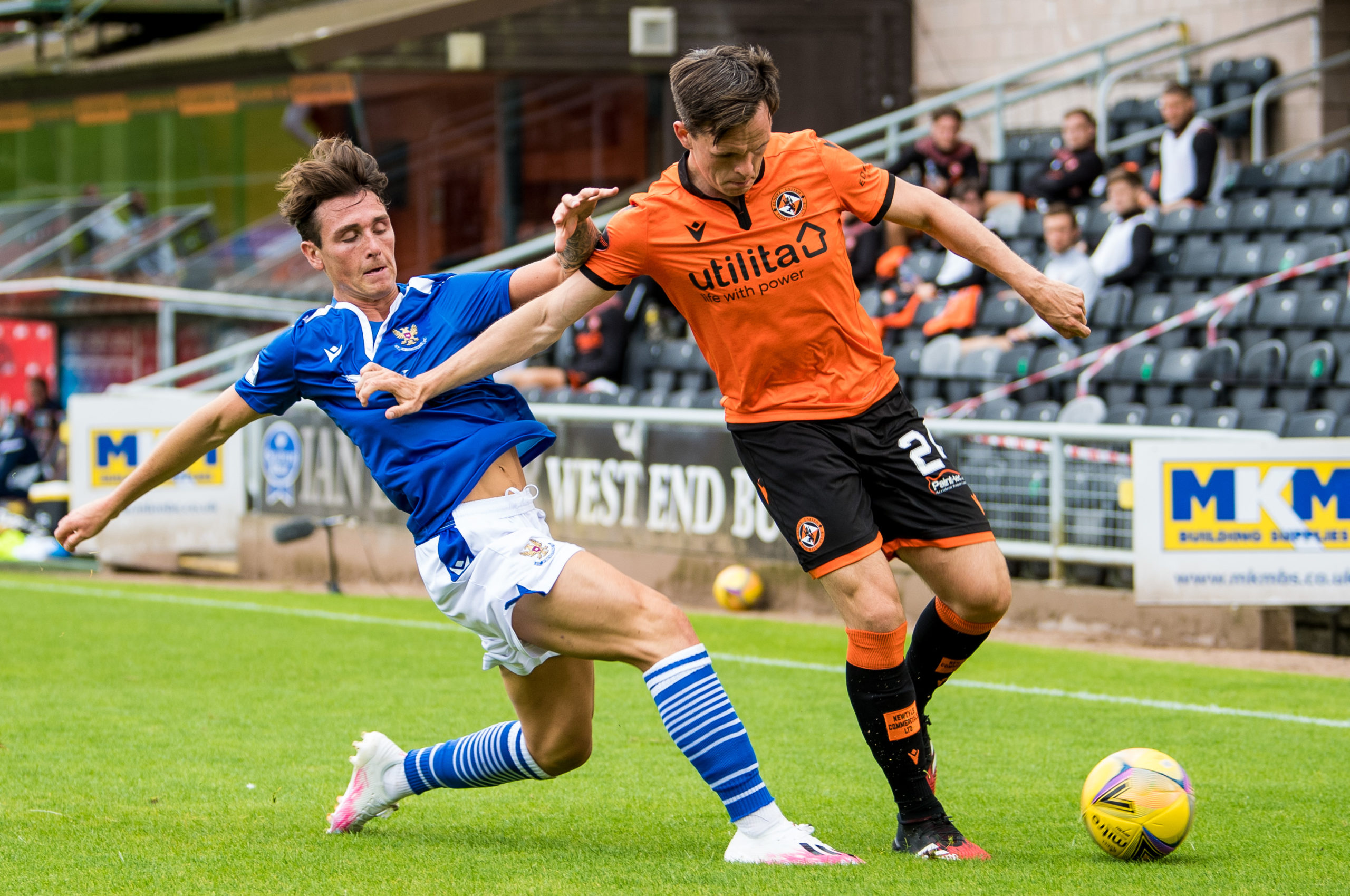 Shankland on the opening day of the season against St Johnstone.