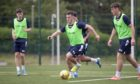 Dundee new boy Danny Mullen on the ball during the first session of pre-season training at RPC Caird Park. Pic: David Young