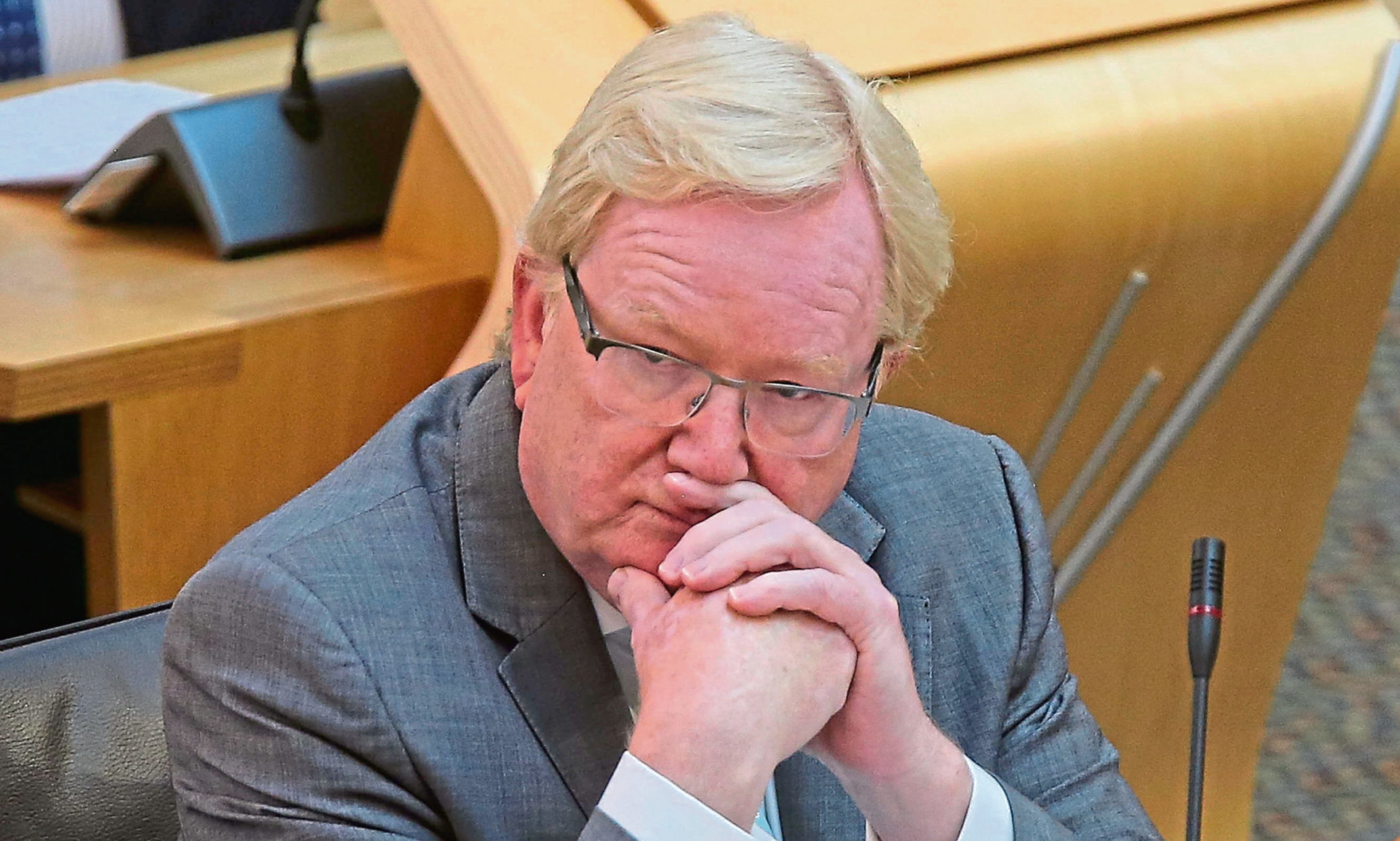Jackson Carlaw MSP.     Dear picture desk,     Please find attached images from Frist Ministers Questions held at the Scottish parliament, Edinburgh today.     Pool images supplied by Fraser Bremner/Scottish Daily Mail     Andrew Cowan  Media Relations Office fbpic- First Minister's Questions FMQs. Jackson Carlaw MSP Scottish Conservative Leader today during Covid-19 social distancing First Ministers Questions at the Scottish Parliament Holyrood Edinburgh. UK Lockdown Coronavirus. Scotland Scottish politics. Poolphoto/Fraser Bremner/ Scottish Daily Mail Wednesday 3 June 2020.  Picture FRASER BREMNER (date taken)03.06.2020(digital image) tel 07976 414 878 email fbremnerinfo@yahoo.co.uk
