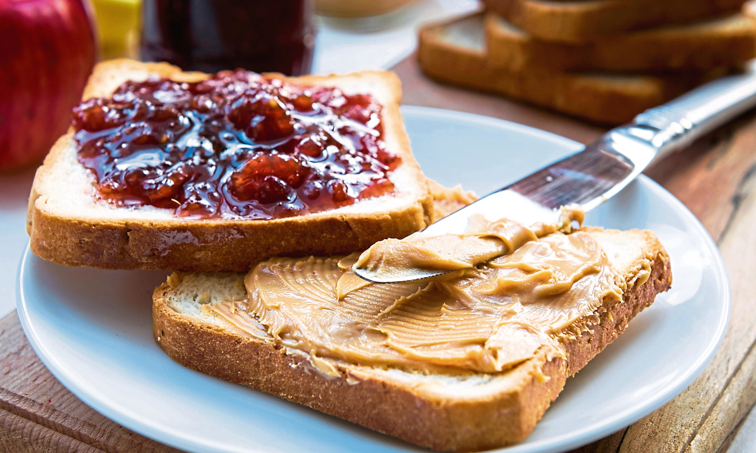 A peanut butter and jelly sandwich doesn't make it onto Martel's dining table.