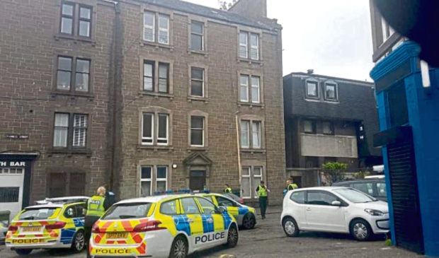 Police incident on Francis Street in Dundee.