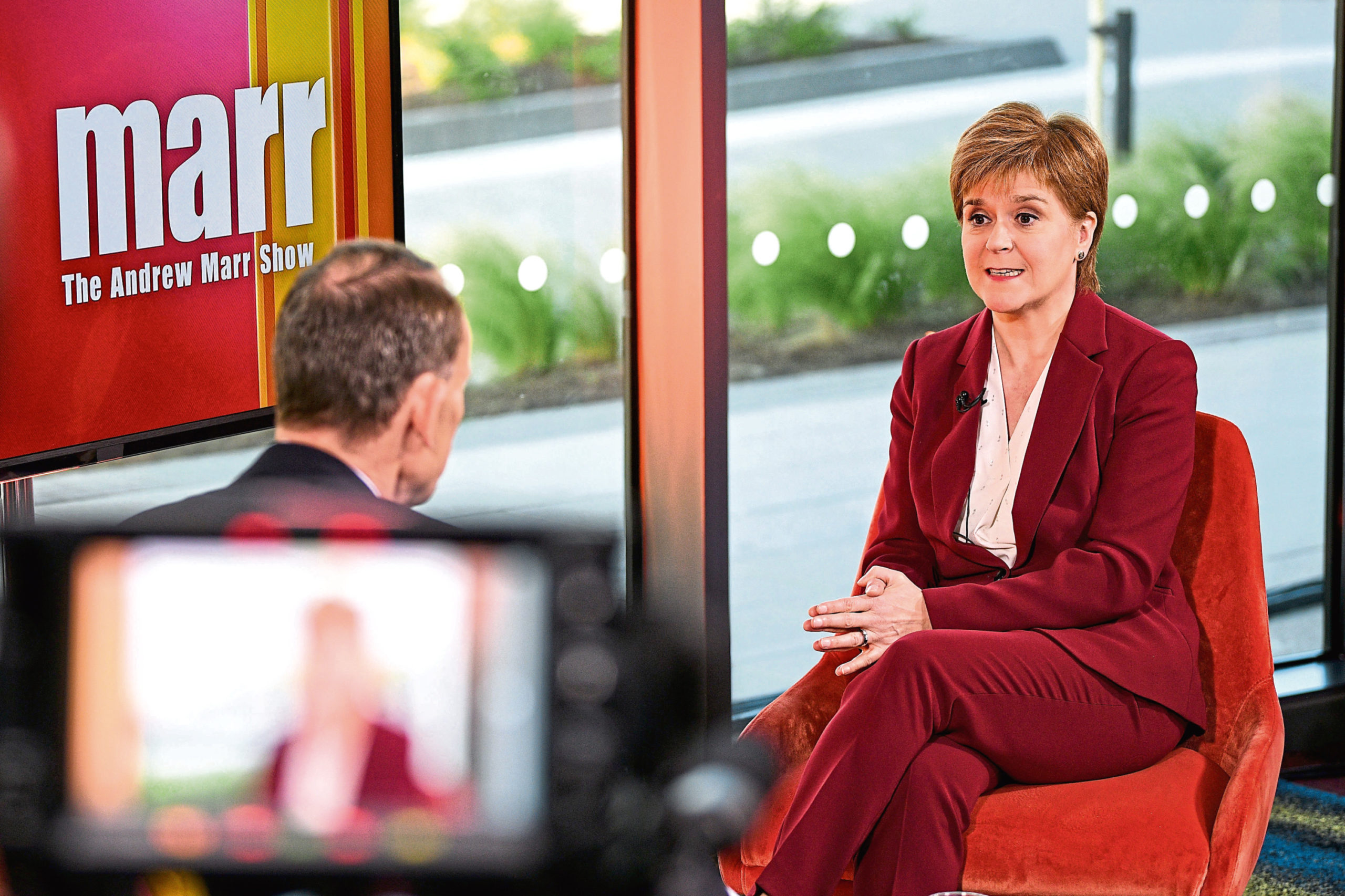 Nicola Sturgeon on The Andrew Marr Show.