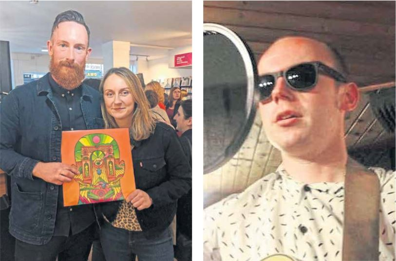 Picture shows Andy with Graeme Scott's sister Gemma at the album launch and, right, Graeme.