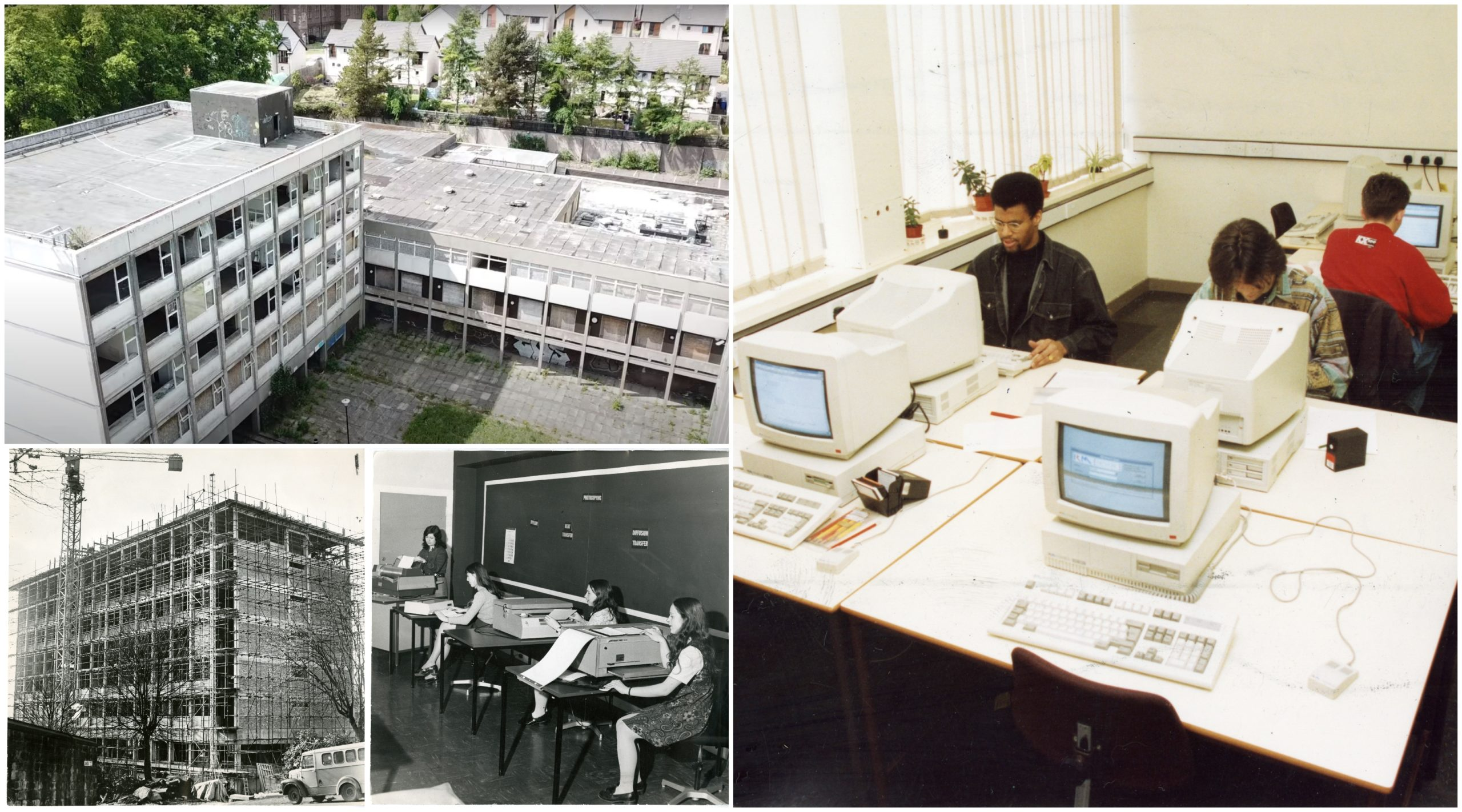 Pictures show Dundee College over the years.