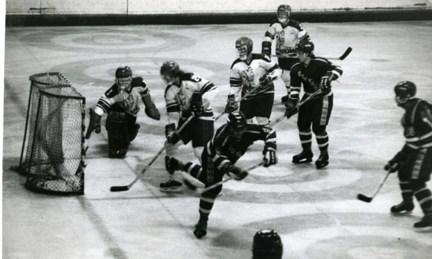 Dundee Rockets in action in 1982.