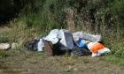Some rubbish left at Lintrathen Loch near Kirriemuir yesterday.