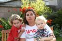 Tele News - Rachel Amery story - TUI Holiday.  CR0022993 Picture shows; Lyndsey Lauder at home in Dundee today, with her kids Maddison, age 3, and Reuben, age 1, who tried to book a holiday with TUI, and then issues meant that they are out of pocket with no holiday booked. Monday 10th August 2020. Dougie Nicolson / DCT Media.