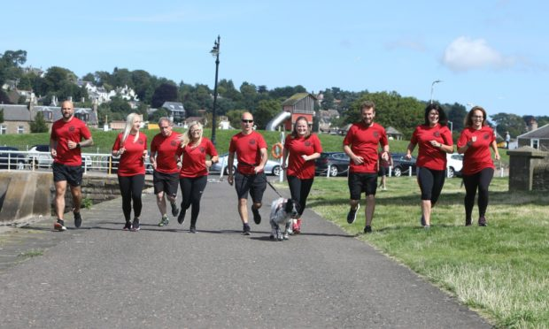 Some of the Running Machine members taking part in the three day relay.