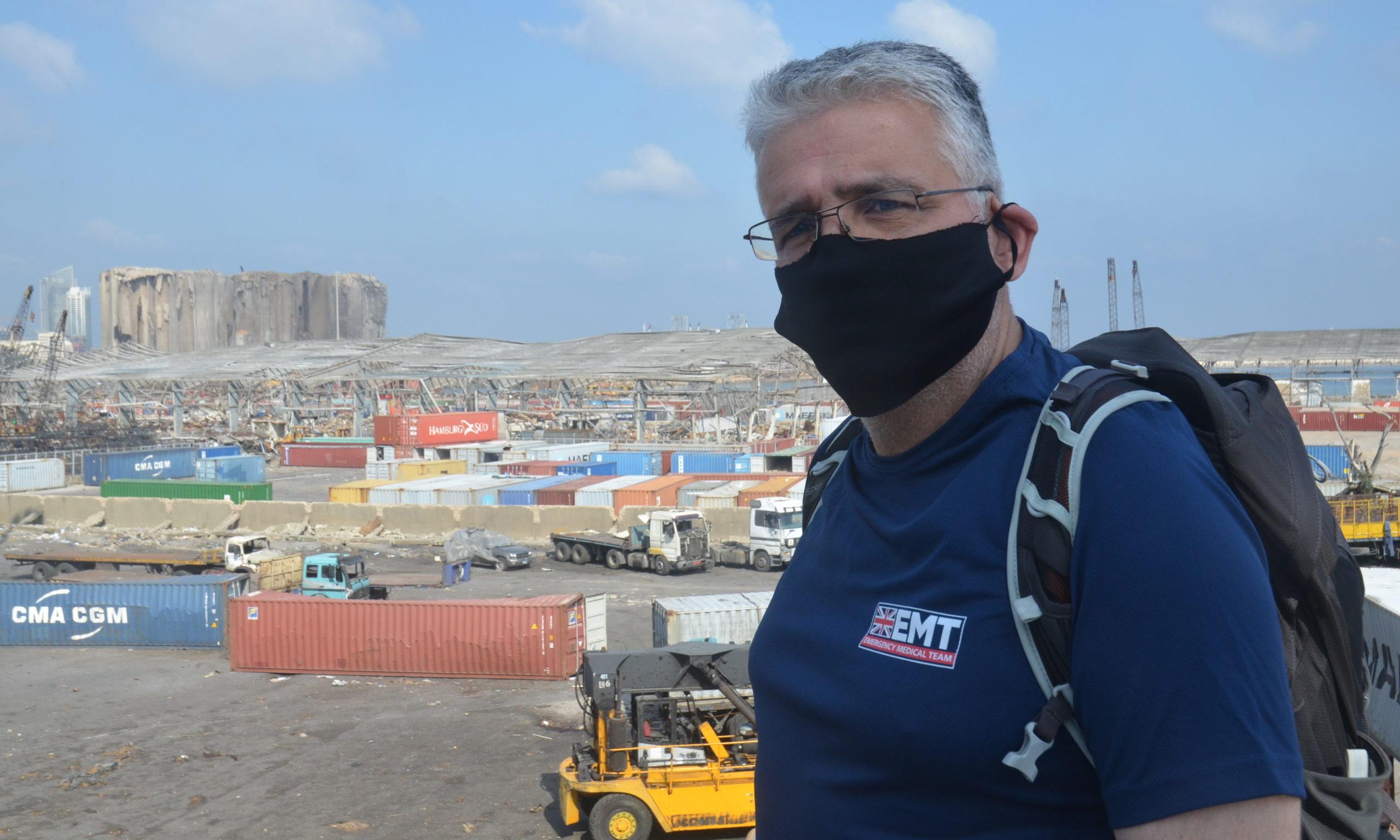 David Anderson at Beirut Port.