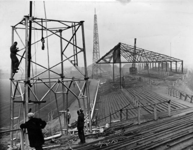 Pylon installed at the stadium in 1959.