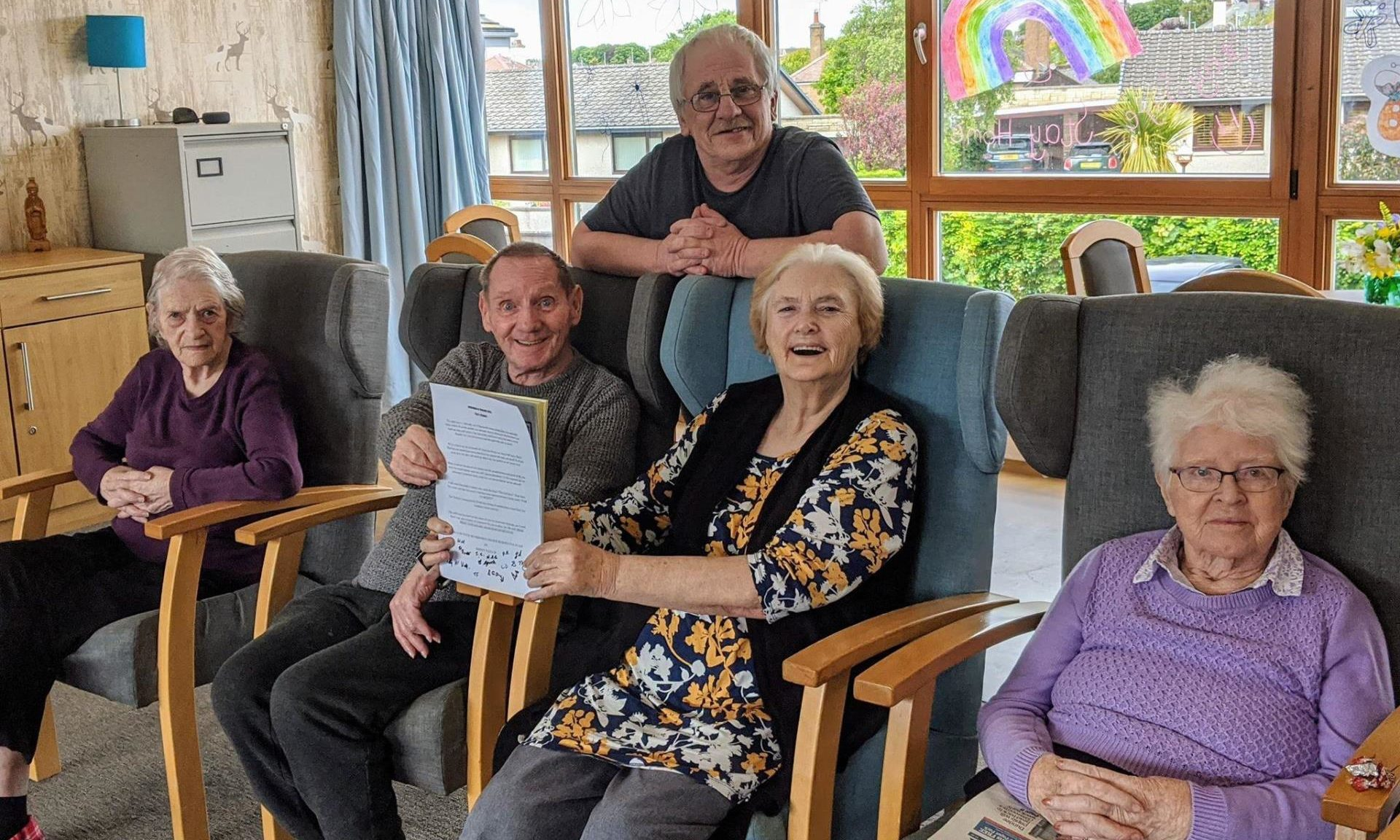 Residents of Fraser Lounge at Balhousie Monkbarns Care Home.