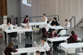 Pupils at Harris Academy in Dundee.