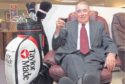 James Lornie received a set of golf clubs when he retired in 2000 after 45 years in the family business, latterly as managing director.