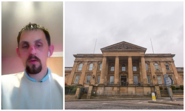 Vile thug Scott Lowden was arrested just hours after release from HMP Perth.