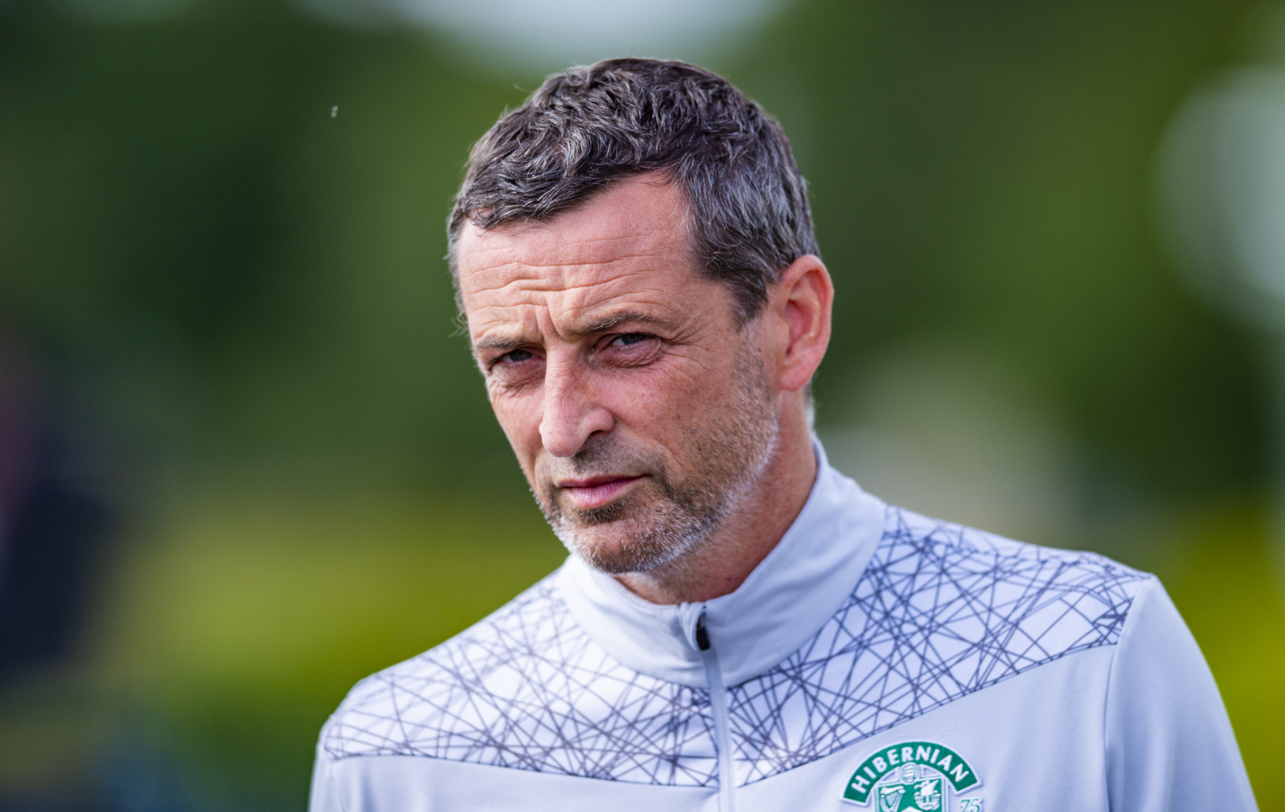 Hibs manager Jack Ross.