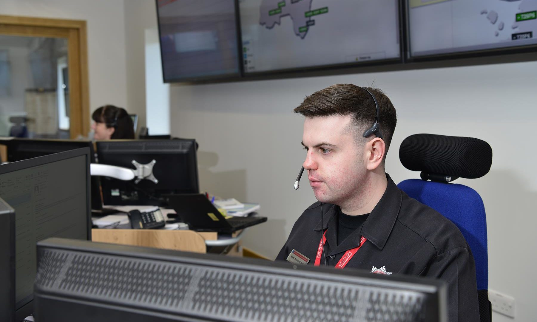 Marc Benedictus in the Dundee Operations Control Room