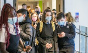 Senior pupils will have to keep face masks on in class as well as in the corridors.