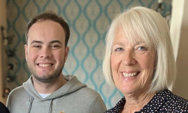 Morag Beckett with her son Greg, who has Cystic Fibrosis