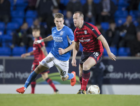 Charlie Adam in action for Dundee in Dave Mackay's St Johnstone testimonial back in 2017.