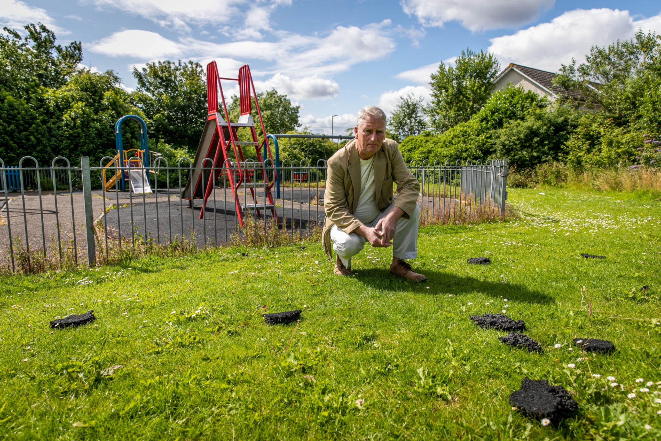 Craig Duncan in the park, where there has been a spate of vandalism.