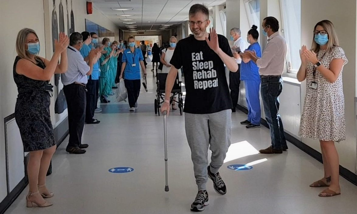 Grant McIntyre left Ninewells to the applause of staff.