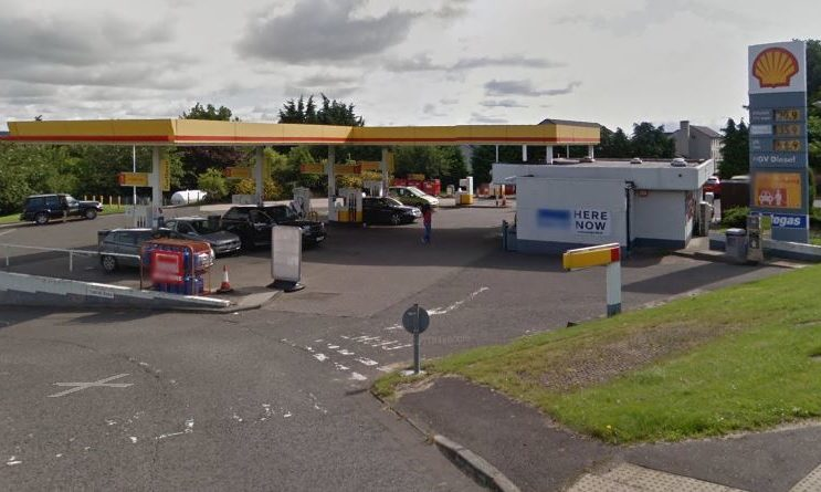 The Shell Garage in Forfar Road, where it's alleged a stolen bank card was used.