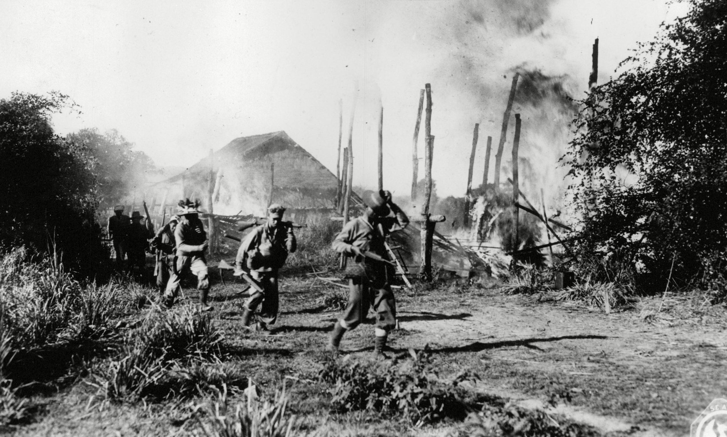 Hill tribesman fighting for the British Army in Burma.