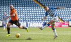 Eamonn Brophy makes it 2-0 to Kilmarnock against Dundee United.
