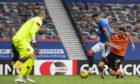 James Tavernier puts Rangers 2-0 up.