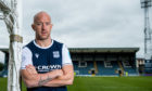 New Dundee signing Charlie Adam is unveiled at Dens Park.