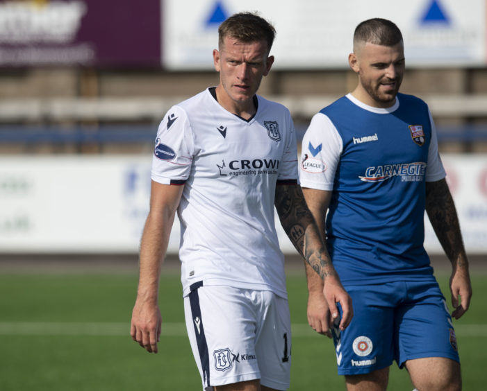 Lee Ashcroft pictured during friendly against Montrose.