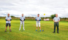 Graeme Dunsire, Gary Douglas, Gordon Bryce and Gavin Piper of Stable Kitchens at the Help for Kids Golf event at St Michaels Golf Course near Leuchars. Picture by Steve Brown/DCT Media.