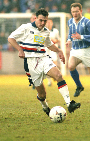 George Shaw in action for Dundee against St Johnstone in 1994.