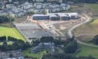 The picture taken by Bruce Thomson, of the UK Civil Air Patrol, shows progress on the new Madras College, St Andrews.