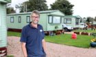 Evening telegraph news CR0024048 G Jennings pics , Douglas Baillie of Tayport Links Caravan Park talking about business through lockdown, wednesday 23rd september.