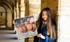 "Sixteen-year-old Madras College student Amy McLean with her painting entitled "" Jack"" which has been long listed for the Scottish Portrait of the Year 2020"