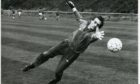 Jim Leighton during training at Girvan.