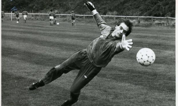 Jim Leighton during training at Girvan.