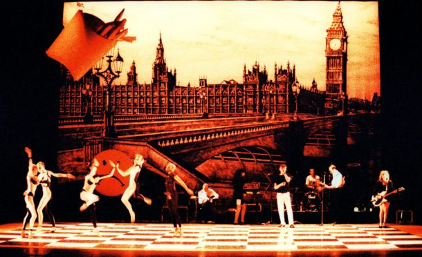 Michael Clark & Company with The Fall in I am Curious, Orange, 1988. Sadler's Wells Theatre, London.