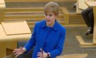 First Minister Nicola Sturgeon.