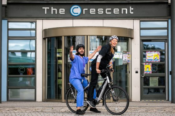 Medical Student Fareed Nadeem and Dr Becky Forrester.