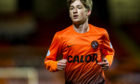 Ryan Gauld in action for United against Hearts in 2013.