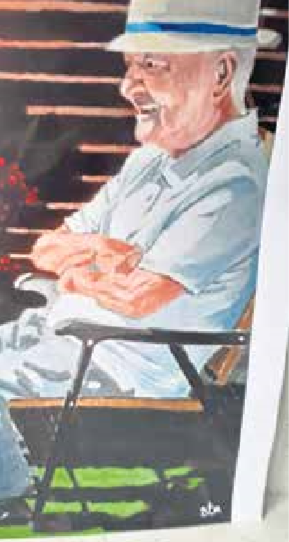 The painting of George Grier by former Dundee and Dundee United player Steve Murray.