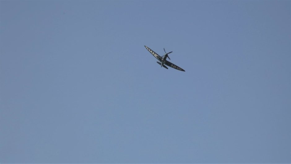The Spitfire, which passed Dundee around 10.30am today
